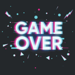 Game Over - Heavy Cotton ™ 100% Cotton T Shirt Design