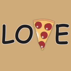 Pizza Love - Heavy Cotton ™ 100% Cotton T Shirt Design