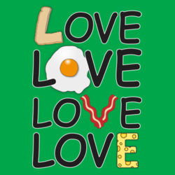 Breakfast Love - Heavy Cotton ™ 100% Cotton T Shirt Design