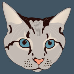 Cat Head (Grey Tabby) - Heavy Cotton ™ 100% Cotton T Shirt Design