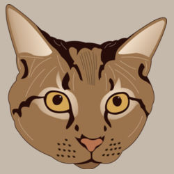 Cat Head (Brown Tabby) - Heavy Cotton ™ 100% Cotton T Shirt Design