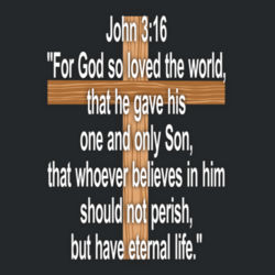 John 3:16 - Heavy Cotton ™ 100% Cotton T Shirt Design