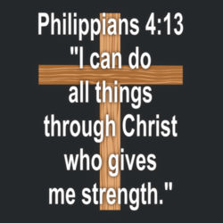 Philippians 4:13 - Heavy Cotton ™ 100% Cotton T Shirt Design
