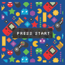 Press Start - Heavy Cotton ™ 100% Cotton T Shirt Design