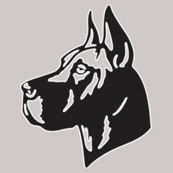 Great Dane Head - Heavy Cotton ™ 100% Cotton T Shirt Design