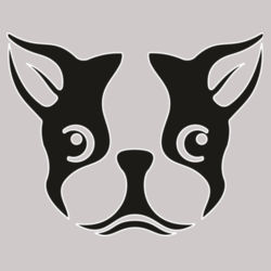 Boston Terrier Head - Heavy Cotton ™ 100% Cotton T Shirt Design