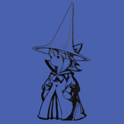Black Mage Female - Heavy Cotton ™ 100% Cotton T Shirt Design