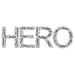 HERO-Word Cloud - Heavy Cotton ™ 100% Cotton T Shirt Design