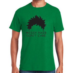Messy Hair Don't Care - Heavy Cotton ™ 100% Cotton T Shirt Thumbnail