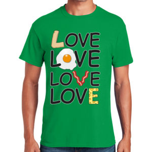 Breakfast Love - Heavy Cotton ™ 100% Cotton T Shirt Thumbnail
