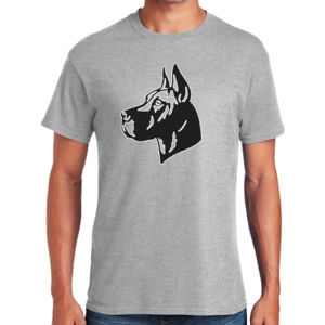 Great Dane Head - Heavy Cotton ™ 100% Cotton T Shirt Thumbnail
